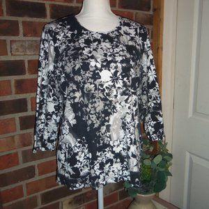 Rebecca Malone 3/4 Sleeve Top XL